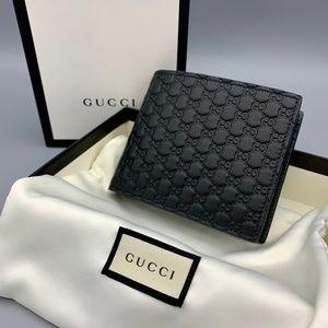 NIB GUCCI MicroGuccissima GG Men's Leather Wallet